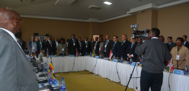 nile basin water ministers address